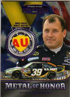 2011 Press Pass Stealth Metal of Honor Purple Heart #MHRN Ryan Newman