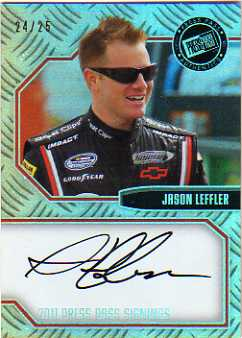 2011 Press Pass Signings Holofoil #PPSJL2 Jason Leffler/25