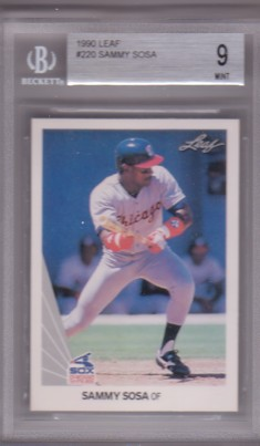 1990 Leaf #220 Sammy Sosa RC