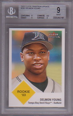 2003 Fleer Tradition Update #295 Delmon Young ROO RC