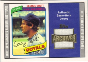 2002 Topps Archives Uniform Relics #TURGB George Brett 80