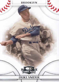 2008 Donruss Threads #13 Duke Snider
