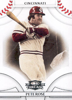 2008 Donruss Threads #21 Pete Rose