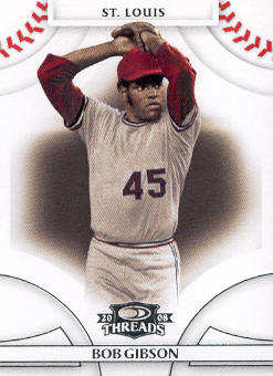 2008 Donruss Threads #45 Bob Gibson