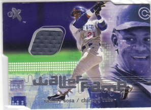 2001 E-X Wall of Fame #28 Sammy Sosa
