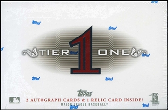 3 BOX LOT : 2011 Topps Tier One Baseball Factory Sealed Hobby Series Box With 2 ON CARD AUTOGRAPHS & 1 Relic Card Per Box - In Stock Now          front image