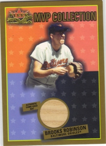 2002 Fleer Fall Classics MVP Collection Game Used Gold #BR Brooks Robinson Bat