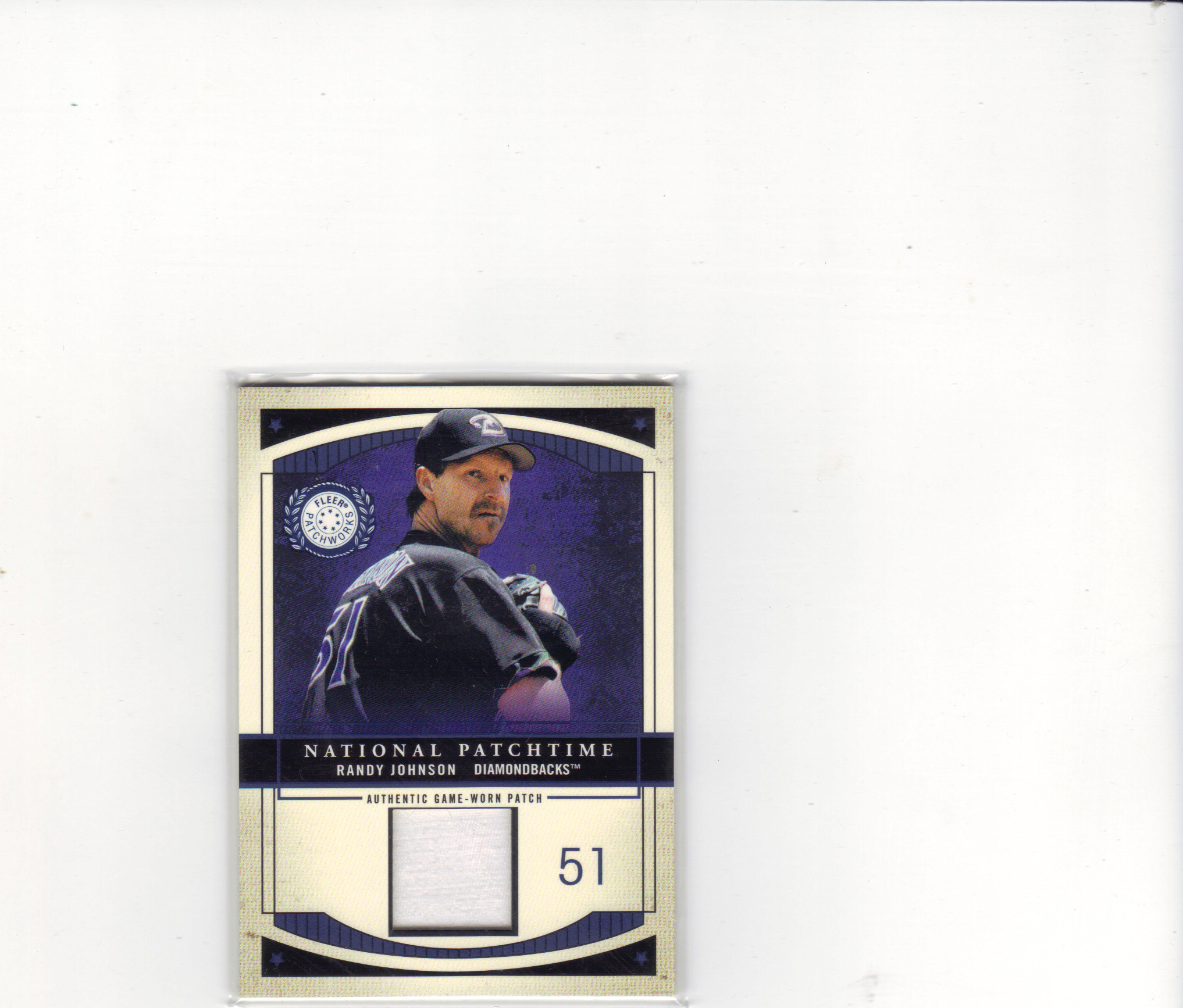 2003 Fleer Patchworks National Patchtime 300 #RJ2 Randy Johnson