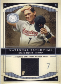 2003 Fleer Patchworks National Patchtime Number #CB Craig Biggio