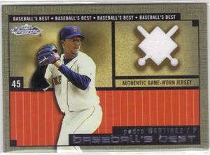 2002 Fleer Showcase Baseball's Best Memorabilia #12 Pedro Martinez Jsy