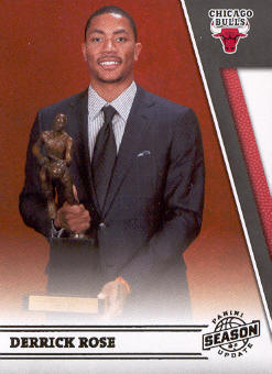2010-11 Panini Season Update #198 Derrick Rose