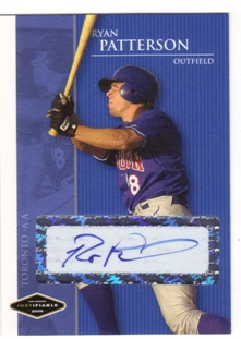 2006 Justifiable Autographs #31 Ryan Patterson/775*