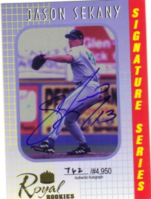 2000 Royal Rookies Autographs #6 Jason Sekany