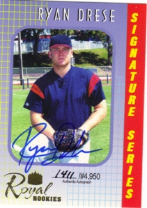 2000 Royal Rookies Autographs #39 Ryan Drese UER