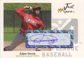 2005 Just Autographs Signatures #23 Edgar Garcia/825 *