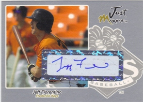 2005 Just Autographs Signatures Silver #19 Jeff Fiorentino