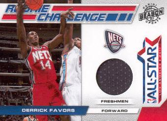 2010-11 Panini Season Update Rookie Challenge Materials #2 Derrick Favors