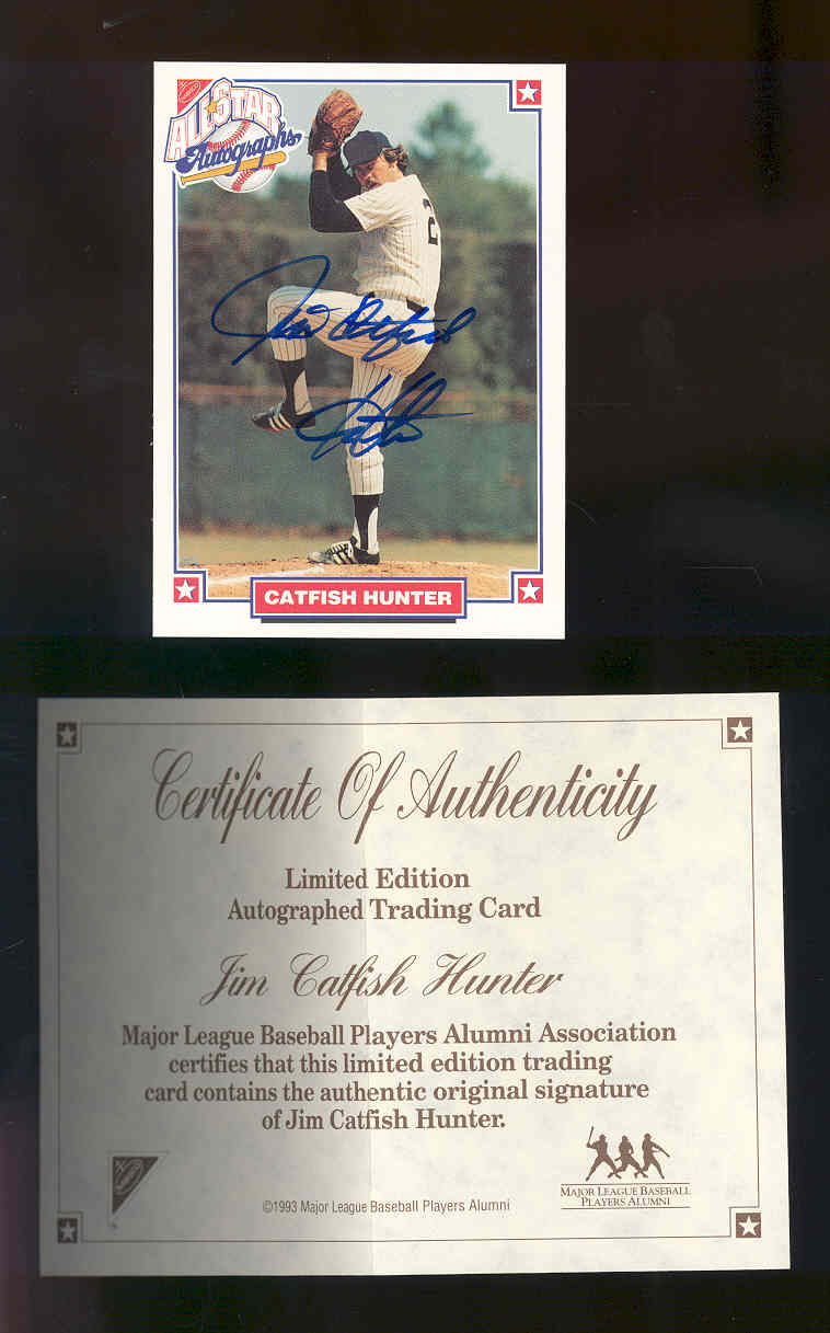 1993 Nabisco All-Star Autographs #3 Catfish Hunter