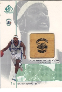 2000-01 SP Game Floor Authentic Floor #BD Baron Davis