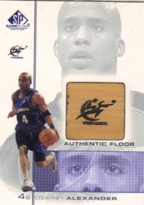 2000-01 SP Game Floor Authentic Floor #CA Courtney Alexander