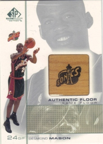 2000-01 SP Game Floor Authentic Floor #DE Desmond Mason