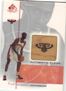 2000-01 SP Game Floor Authentic Floor #DJ DerMarr Johnson