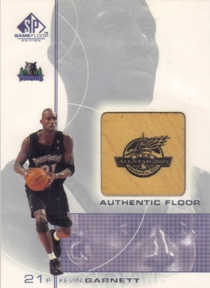 2000-01 SP Game Floor Authentic Floor #KG Kevin Garnett AS