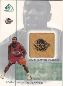 2000-01 SP Game Floor Authentic Floor #MC Mateen Cleaves