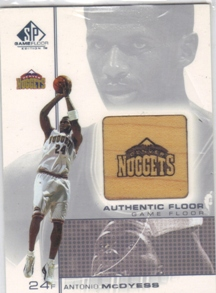 2000-01 SP Game Floor Authentic Floor #MD2 Antonio McDyess