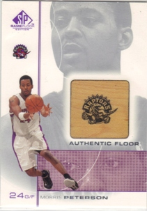 2000-01 SP Game Floor Authentic Floor #MP Morris Peterson