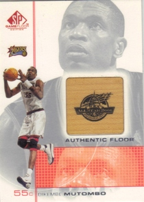 2000-01 SP Game Floor Authentic Floor #MT Dikembe Mutombo