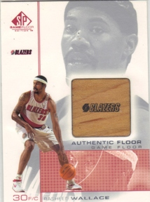 2000-01 SP Game Floor Authentic Floor #RW2 Rasheed Wallace
