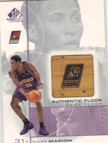 2000-01 SP Game Floor Authentic Floor #SH Shawn Marion