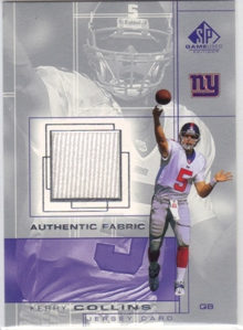 2001 SP Game Used Edition Authentic Fabric #KC Kerry Collins