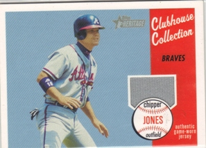 2003 Topps Heritage Clubhouse Collection Relics #CJ Chipper Jones Uni D