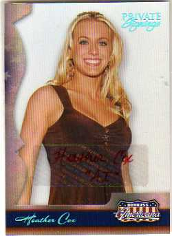 2007 Americana Private Signings #60 Heather Cox/500