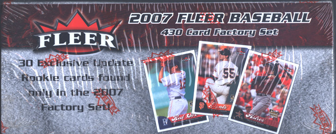 2007 Fleer Factory Sealed Hobby Baseball Complete Set with 30 Exclusive RC Cards including Mark Reynolds and Tim Lincecum