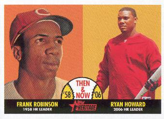 2007 Topps Heritage Then and Now #TN1 Frank Robinson/Ryan Howard