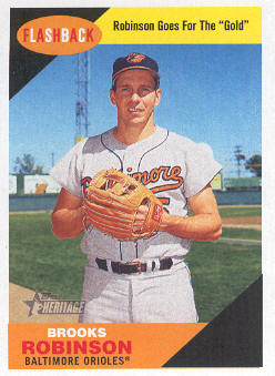 2009 Topps Heritage Baseball Flashbacks #BF7 Brooks Robinson