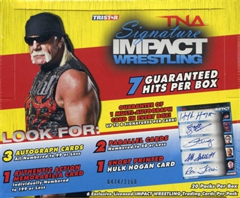 2011 TriStar TNA Signature Impact Wrestling Hobby Box - includes a pk of sleeves