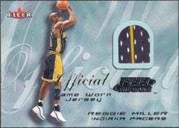 2000-01 Fleer Feel the Game Reggie Miller