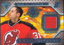 2000-01 Pacific Private Stock Titanium Game Gear Jersey #107, Chris Terreri
