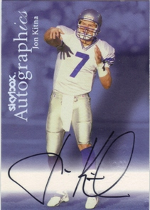 1999 SkyBox Premium Autographics #51 Jon Kitna EX/MM/MU/S