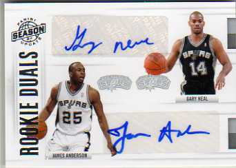 2010-11 Panini Season Update Rookie Duals Signatures #64 James Anderson/Gary Neal