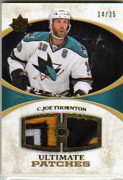 2010-11 Ultimate Collection Premium Patches #PJT Joe Thornton
