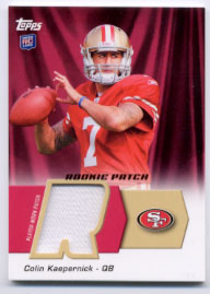 2011 Topps Rookie Patch #HRPCK Colin Kaepernick