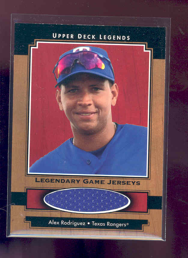 2001 Upper Deck Legends Legendary Game Jersey #JAR Alex Rodriguez