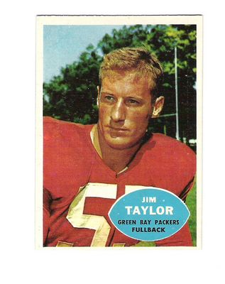 1960 Topps #52 Jim Taylor UER