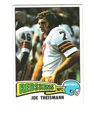 1975 Topps #416 Joe Theismann RC