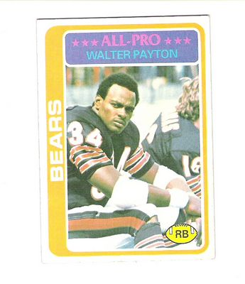 1978 Topps #200 Walter Payton UER